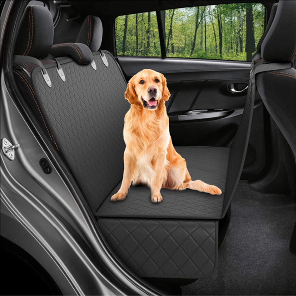 Dog Back Seat Car Cover Protector Waterproof Scratchproof Nonslip Hammock for Pet Against Dirt and Pet Hair Seat Covers full black