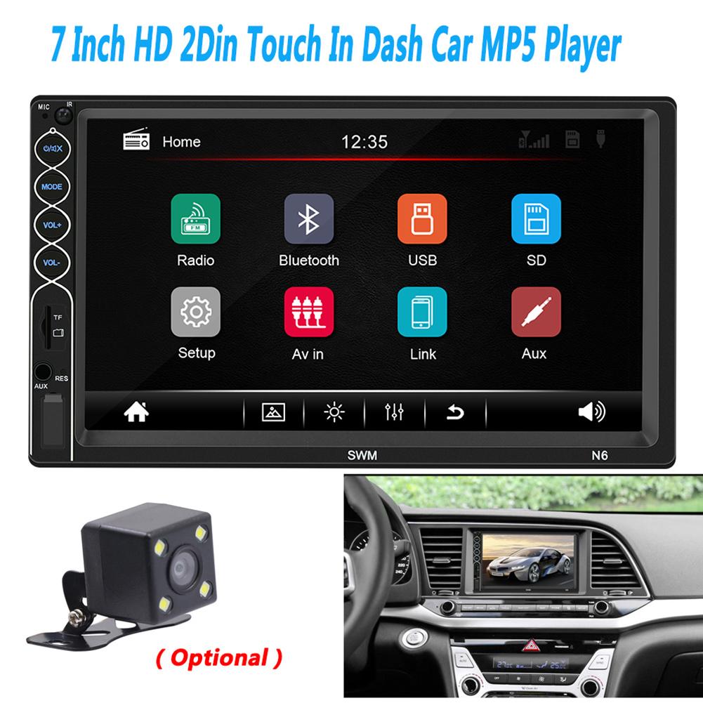 MP5 Auto Media Player USB Bluetooth Audio Car Radio Multimidia MP5 12V FM HD 7