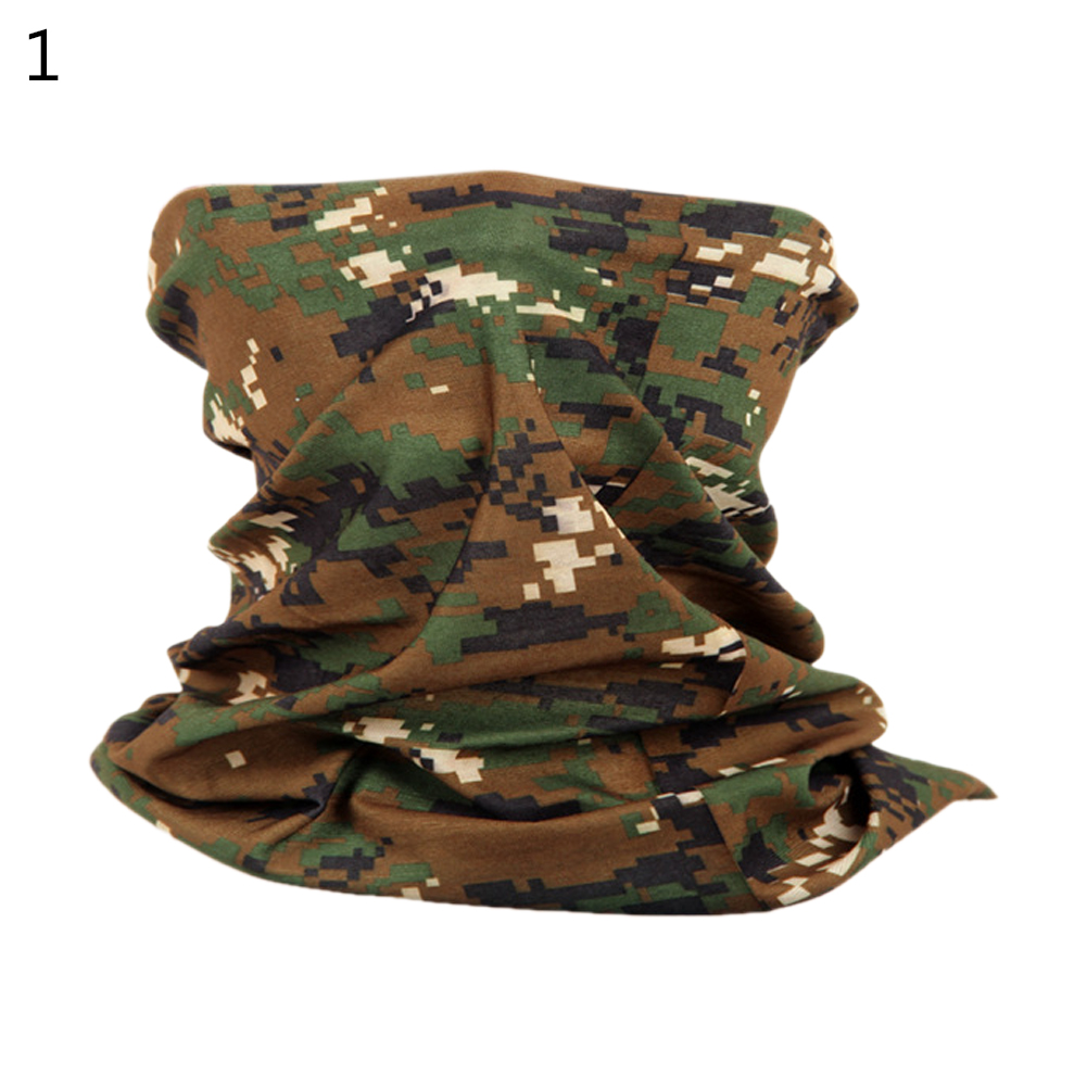 Camouflage Magic Scarf Bandana Neckerchief Outdoor Sunscreen Windproof Riding Headband Mask Turban Wristband Jungle Digital_One size