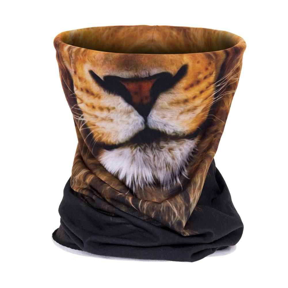 Men Women Magic Scarf Bandana 3D Print Lion Sunscreen Riding Headband Neck Warmer Mask Turban Wristband 42.5 * 25.5cm