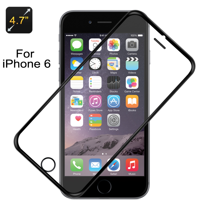 Glass Screen Protector iPhone6 (Black Border)