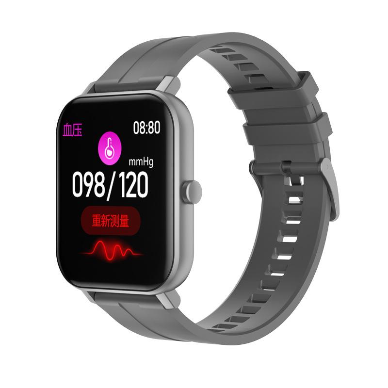 Smart Watch Built-in Battery Temperature Heart Rate Blood Pressure Blood Oxygen Sleep Monitoring Music Control Smart Bracelet gray