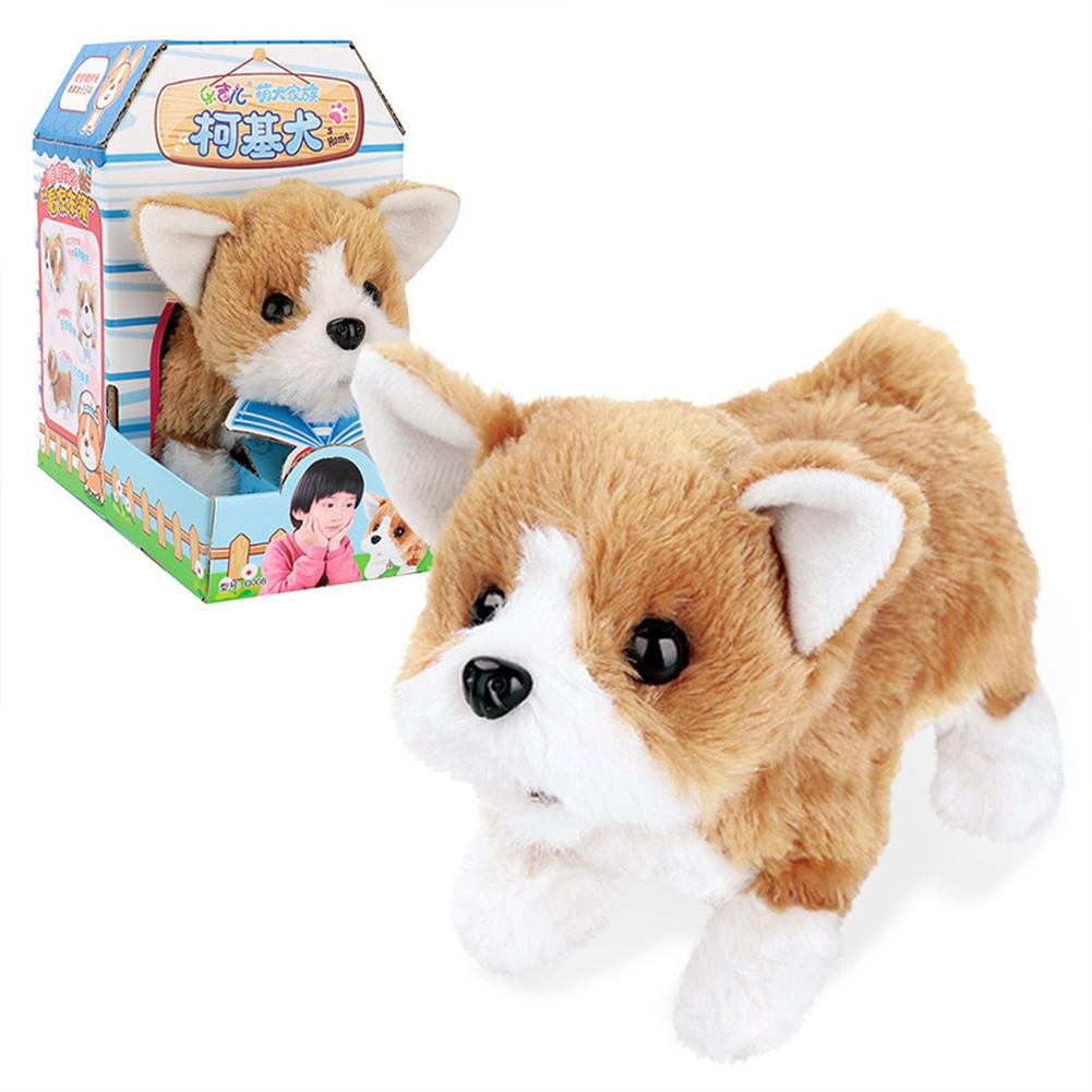 Dog Shape Electric  Plush  Toy Cute Simulation Puppy Plush  Toys Smart Robot  Dog Corgi