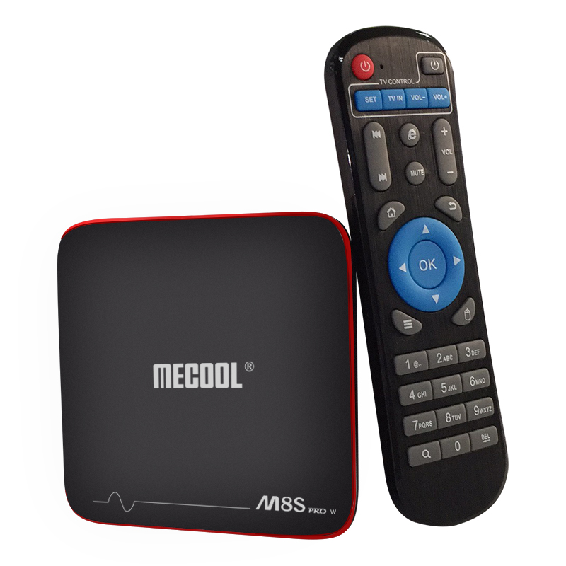 Mecool M8S PRO W TV Box - Ordinary RC,UK Plug