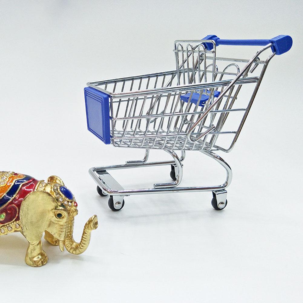 Mini Shopping Cart Toy Home Decoration Storage Tool