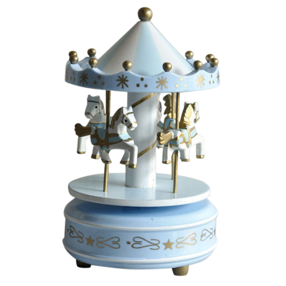 Baby Kids Girl Boy LED Merry-Go-Round Carousel Music Box Valentines Day Gifts US