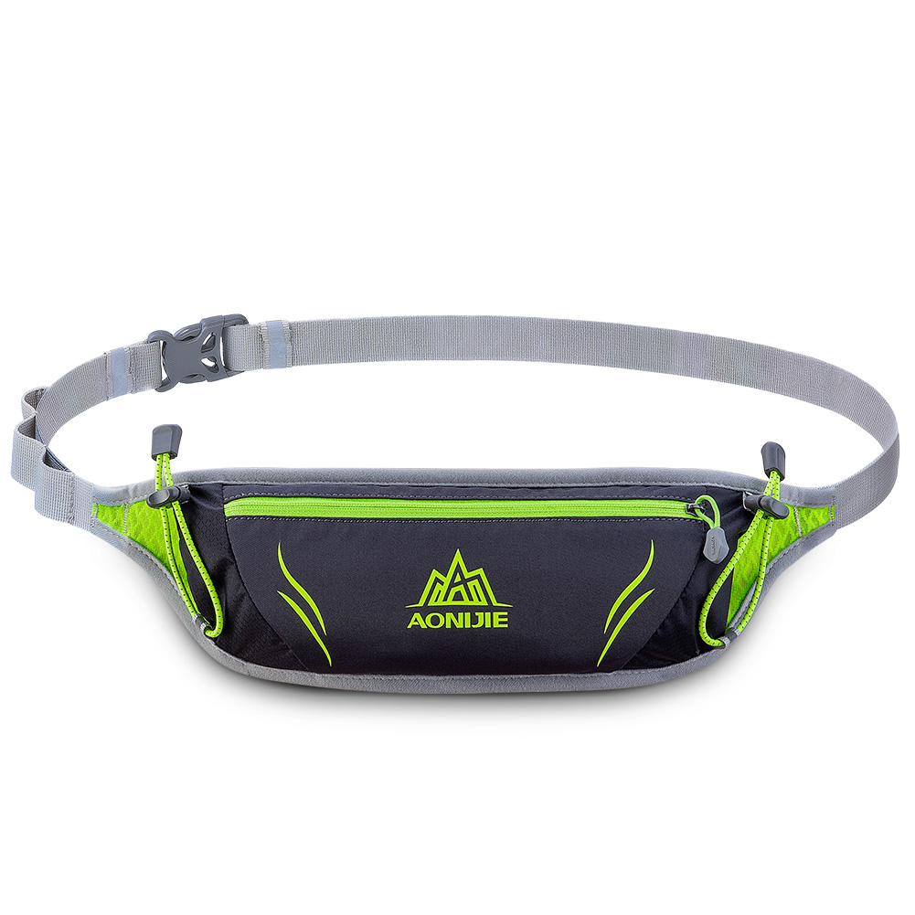 [US Direct] Outdoor Unisex Sports Waist Bag Ultralight Waterproof Cellphone Pouch for Runing Cycling Black_10 inches below