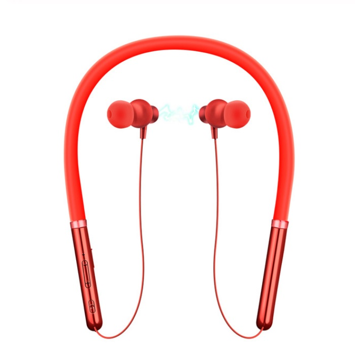 Q30 Wireless Headset Bluetooth 5.0 CSR Chip Low Power Stereo Sound Sports Neckband In-ear Earphone red