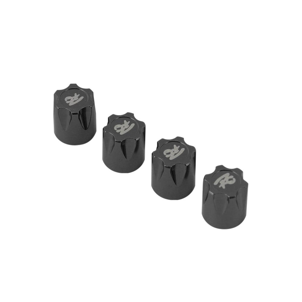 4Pcs Aluminium RC Car Wheel Rim Center Cap M4 Nut for 1/10 RC Crawler Traxxas TRX4 Axial SCX10 90046 D90 Tamiya MST black