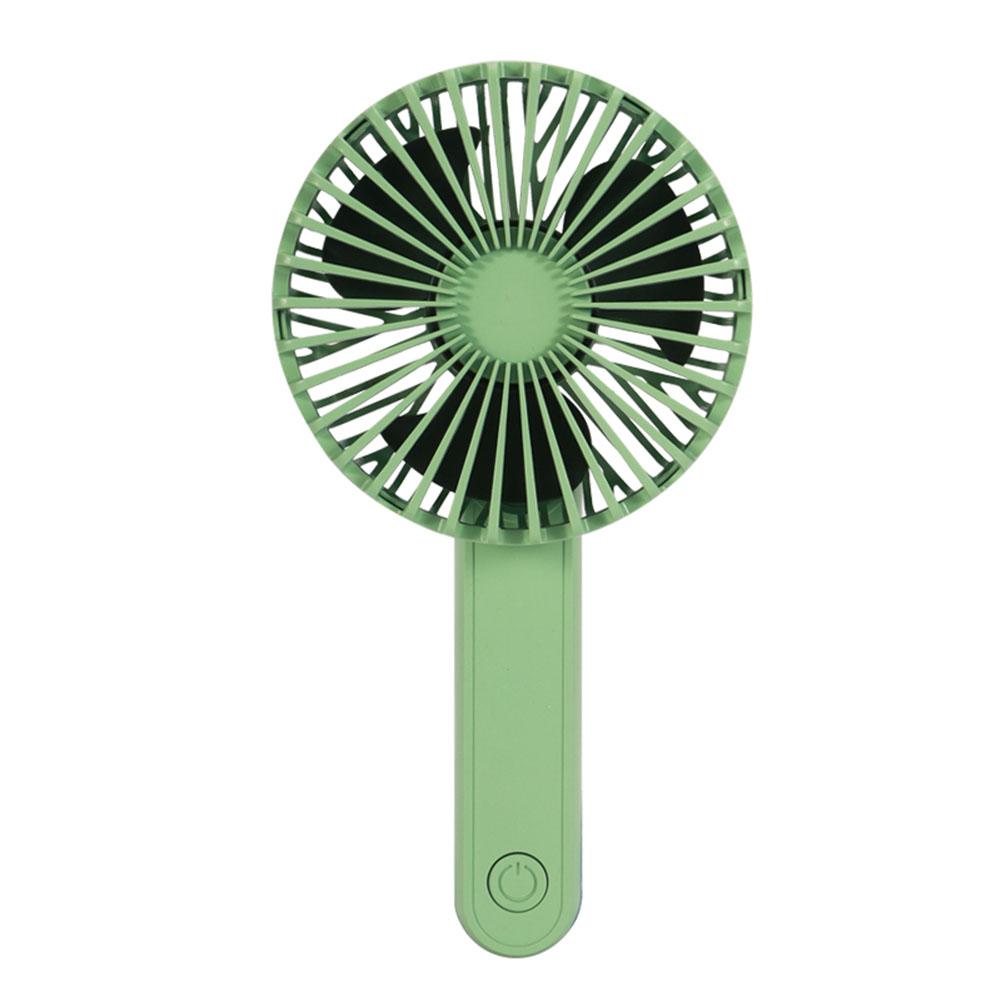 Portable Mini Fan Foldable Mute USB Power Rechargeable Hand Bar Fans green_8.3cm * 5cm * 16.5cm