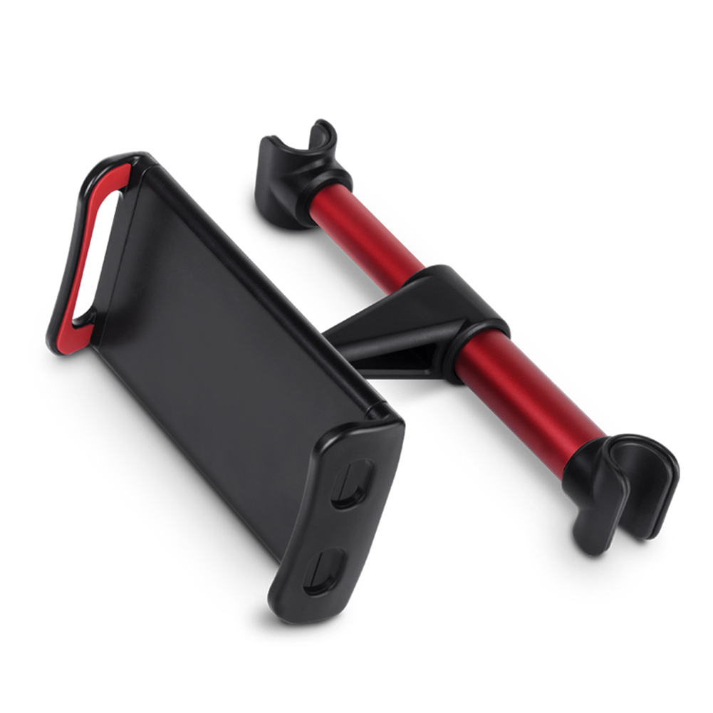 4-11 Inch Phone Tablet PC Holder Stand Back Auto Seat Headrest Bracket Support Accessories for iPhone X 8 iPad Mini red