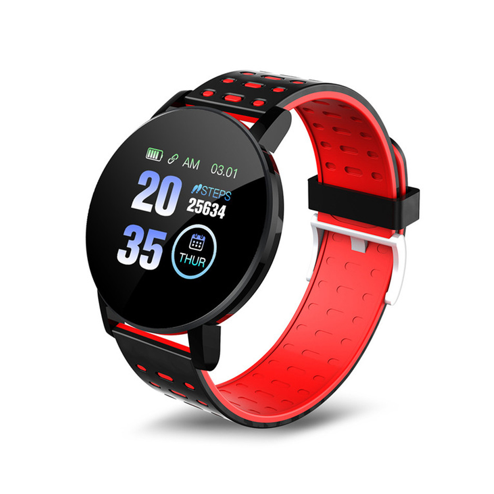 1.3inch Sport Watch Intelligent Watch Bracelet Message Information Heart Rate Monitor Watch for Android iOS Red