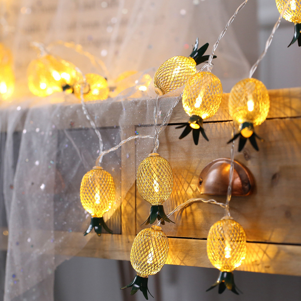 1pc 10LEDs Pineapple String Lights USB Charging Christmas Party Garden Decoration Fairy Light