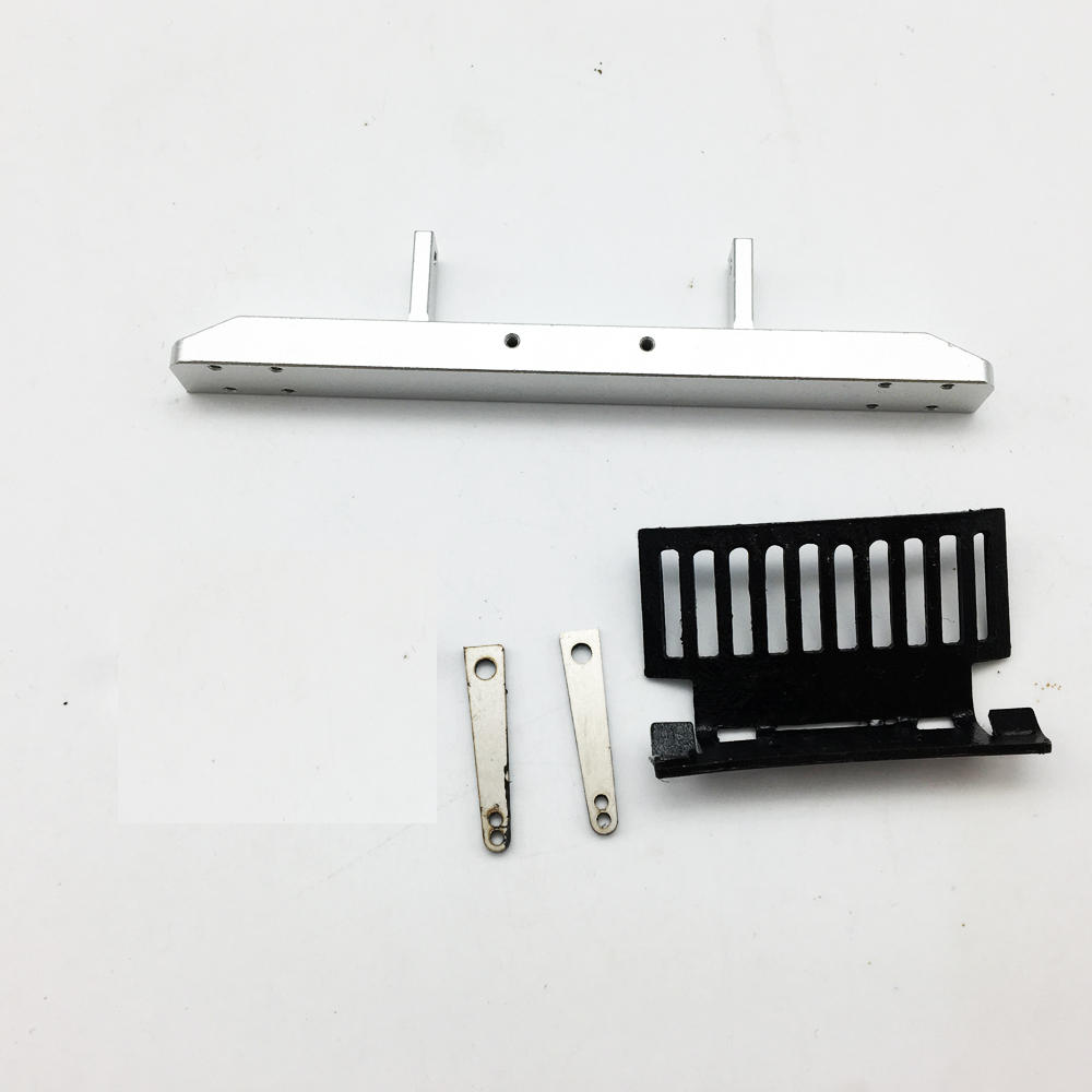 6PCS WPL B36 Upgraded Metal Front Bumper Kit 1/16 Rc Car Spare Parts  Silver