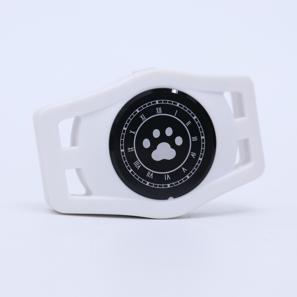 USB Charging D40 Pet GPS Tracking Locator Collar for Cats Dogs Supplies white
