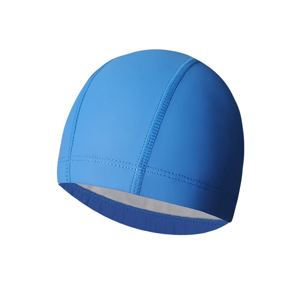 Breathable Swimming  Cap Ear Protection Universal Waterproof Swimming Hat Sapphire