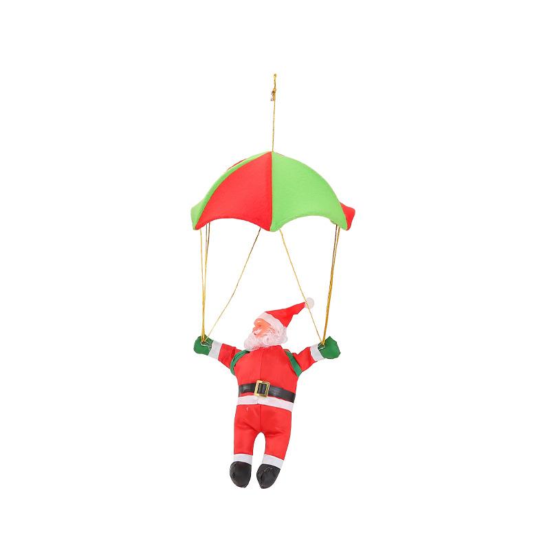 Parasailing Santa Claus Doll Hanging Pendant for Christmas Showcase Decoration 30cm