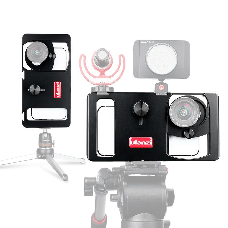 Universal Mobile Phone Camera Holder Handheld Camera Stand Video Shooting Live Broadcast Bracket Rabbit Cage Phone Stabilizer  black