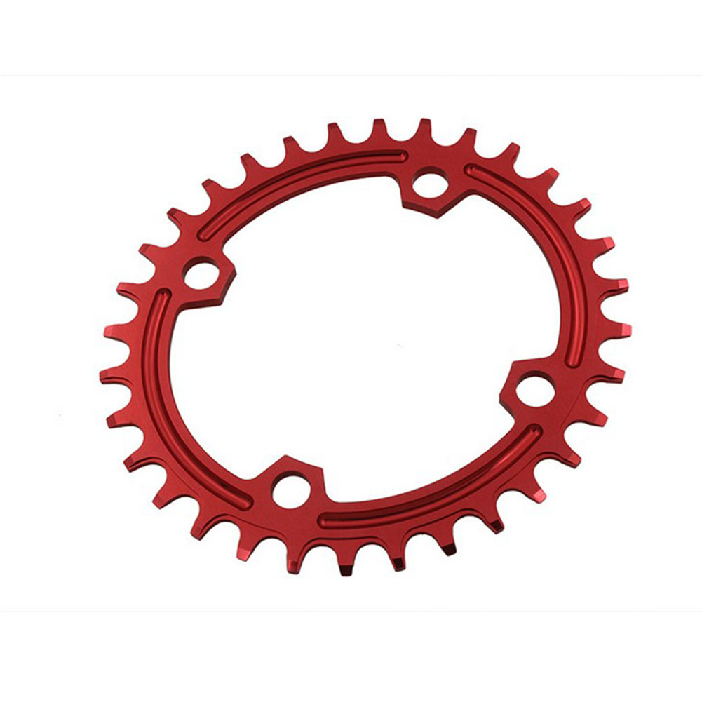 96BCD Positive and Negative Gear Plate Bike Single-speed Disc/Oval Modified Tooth Plate red_96bcd oval 34T