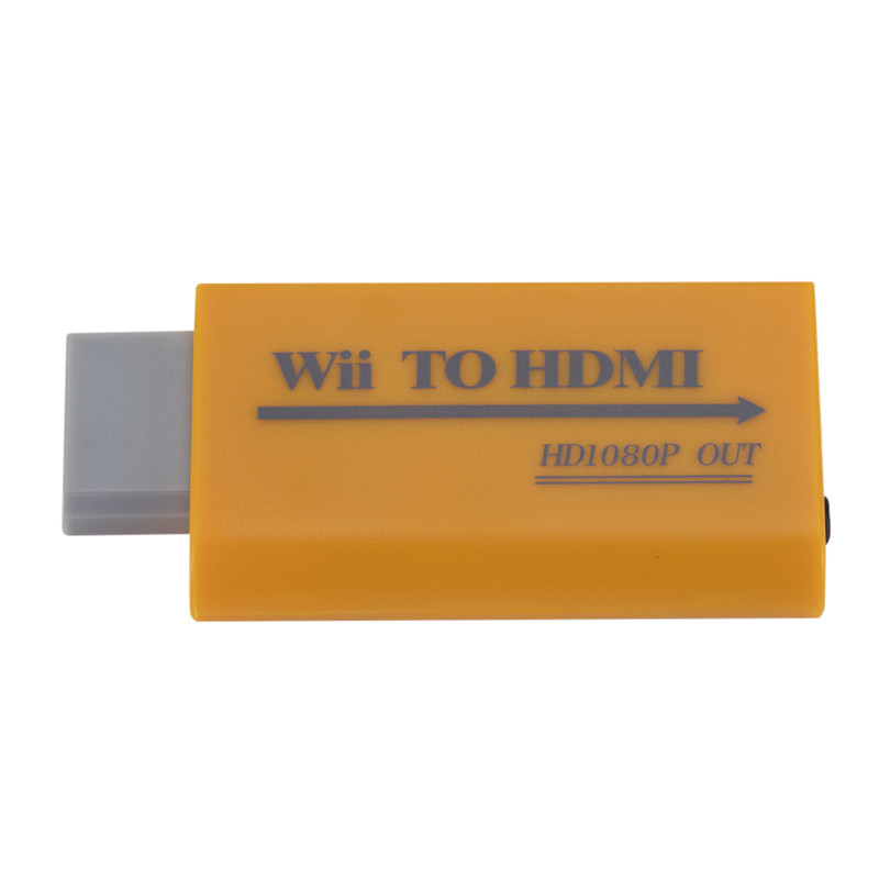 Wii to HDMI Converter Support Full HD 720P 1080P 3.5mm Audio Adapter for HDTV Wii Converter yellow