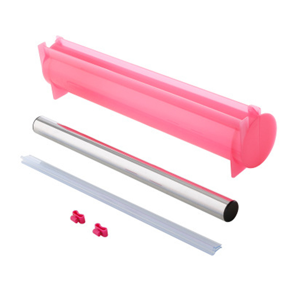 Plastic Cling Wrap Storage Box Cutter Dust-proof Household Kitchen Refrigerator Tool Accessory Pink