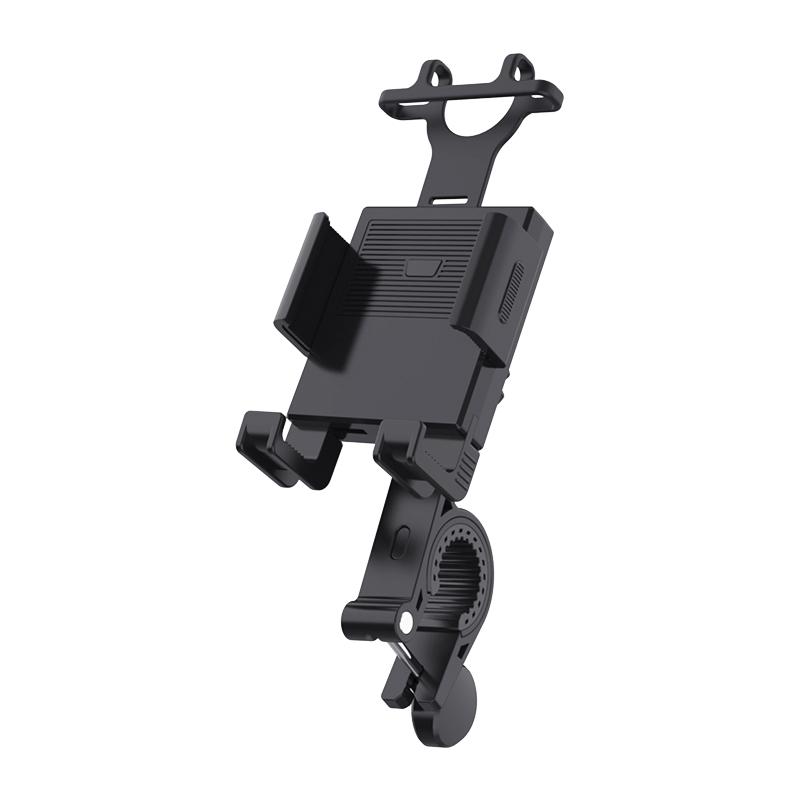 Motorcycle Bicycle Moto Bike Phone Navigation Holder Bracket for Mobile Phone Black