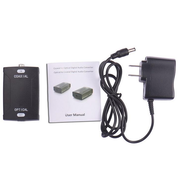Audio Converter For Coaxial Converter 24Bit / 192K HD Sampling Optical Audio Signals U.S. regulations