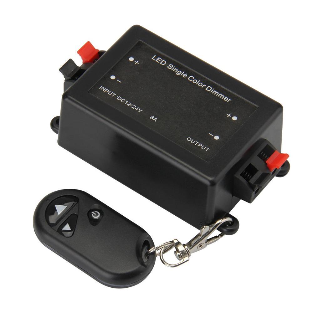 DC12-24V LED Single Color Dimmer 3 Key Remote Control Wireless LED Controller black_3keys