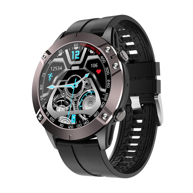 DK60 Smart Watch Bluetooth Call Heart Rate Blood Pressure Music Control Sports Bracelet Black