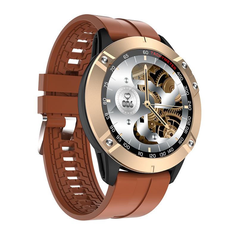 DK60 Smart Watch Bluetooth Call Heart Rate Blood Pressure Music Control Sports Bracelet Golden