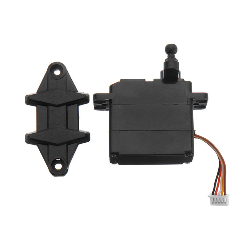 5-wire 2.2kg 19g Servo with Plastic Gear for Xinlehong 9125 1/10 RC Car Parts No.25-ZJ04 as shown