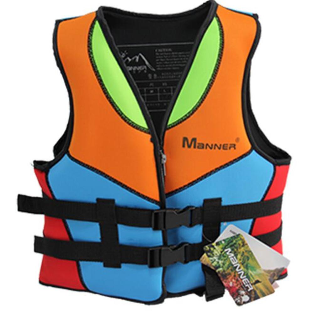 Children Buoyancy Life Jacket Suit Learning Swim Buoyancy Vest  as shown_M
