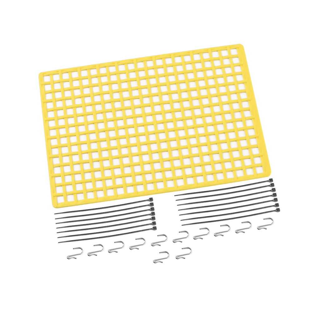 1pc Window Net Rubber Luggage Net Window Decoration for 1/10 RC Car SCX10 90046 Wraith D90 TRX4 Yellow