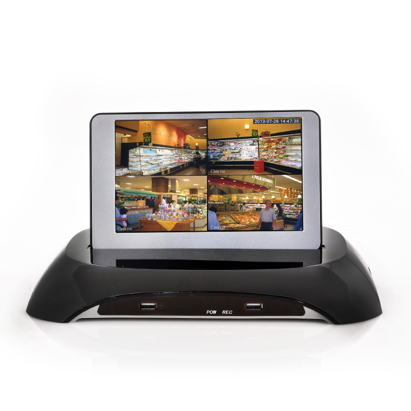 DVR Security Kit With 7 Inch Detachable LCD