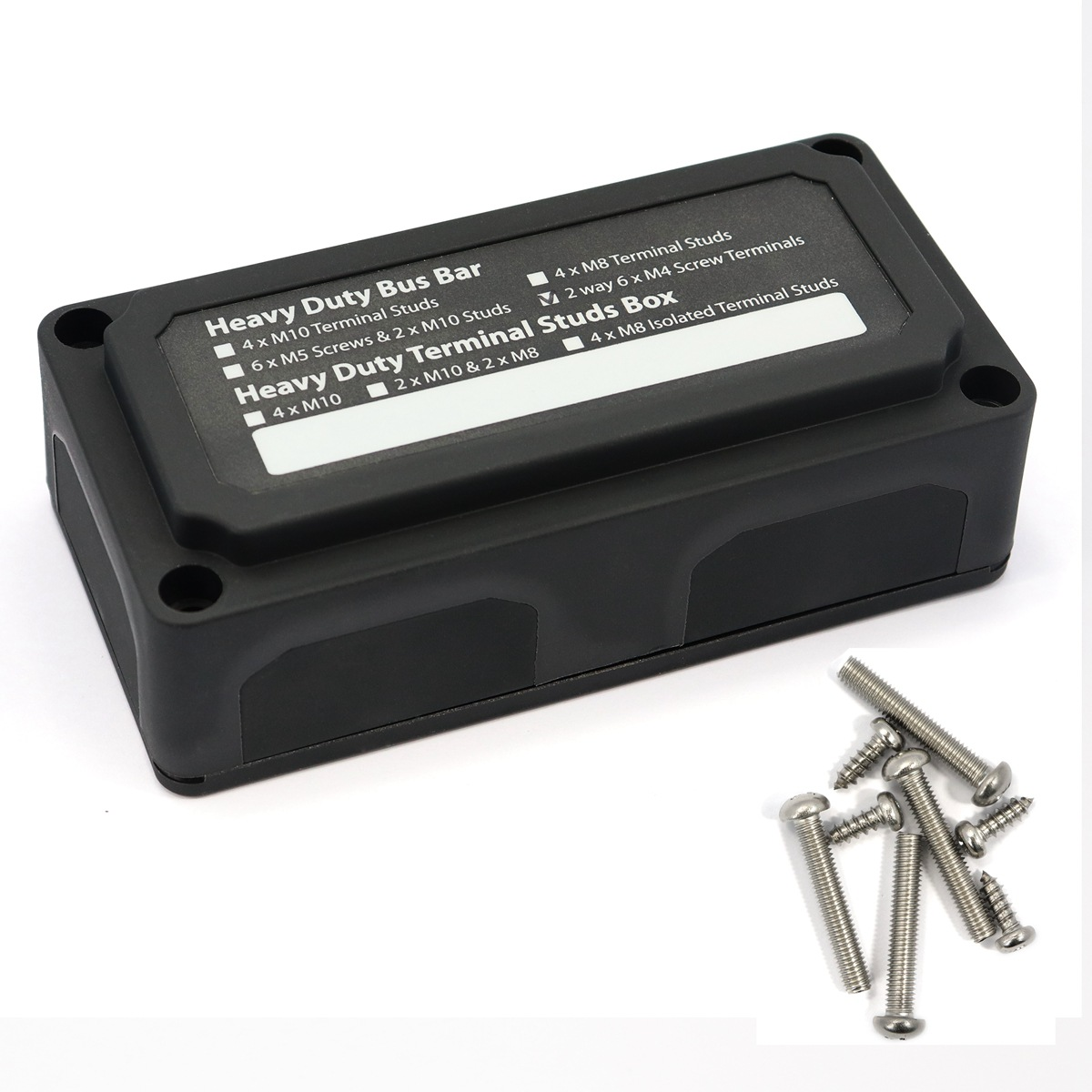 100a Heavy-duty Module Design Power Distribution Block Busbar  Box Black