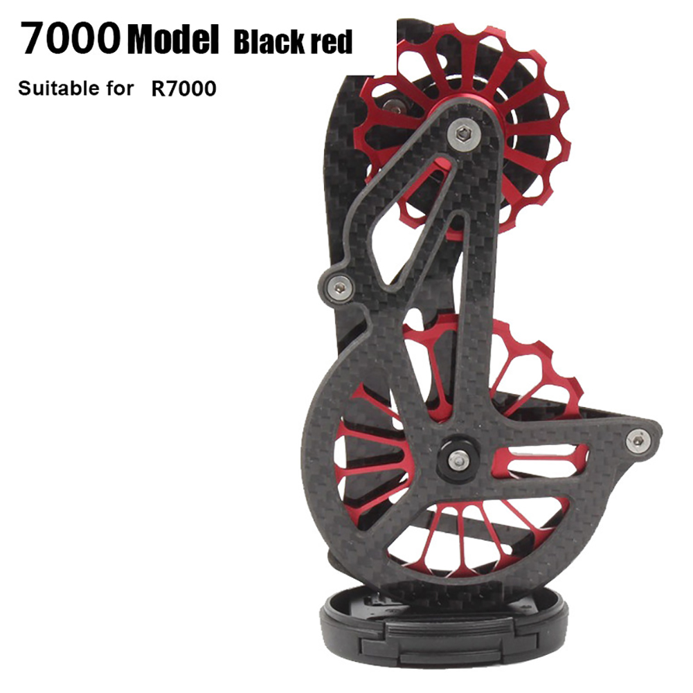 Road Bike Carbon Fiber Rear Pulley Guide Wheel 5800 7000 8000 9000 Bicycle Accessories 7000 guide wheels black red