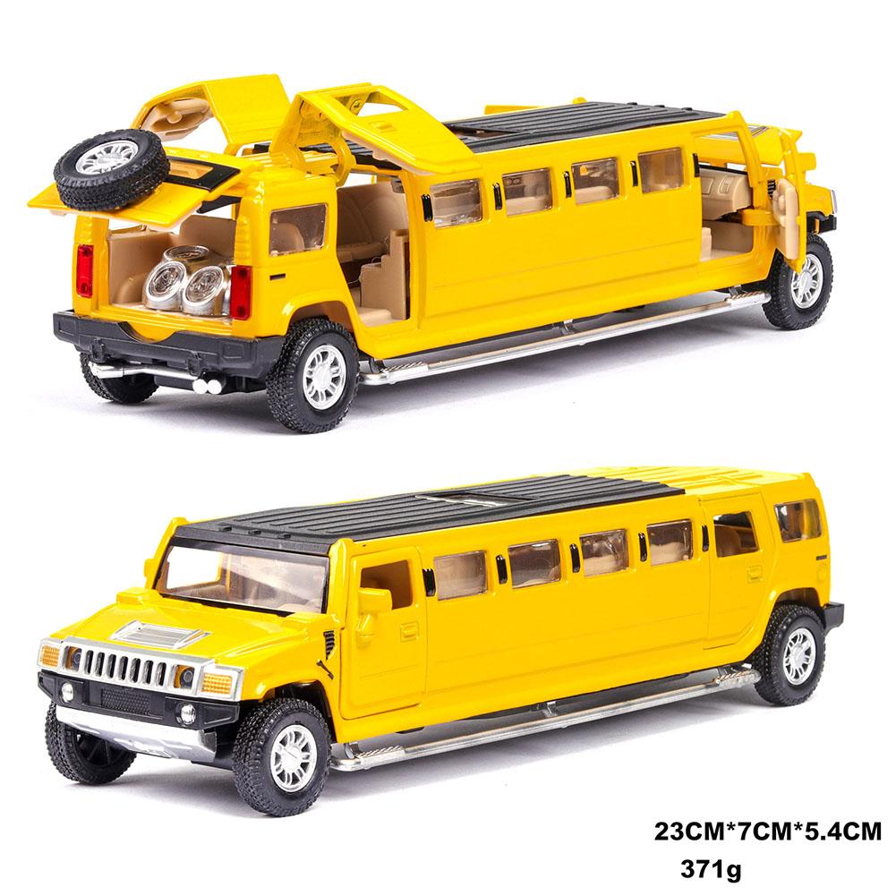 Kids High Simulation 1:32 Alloy Car Model Inertia Doors Open Light Sound Toy yellow