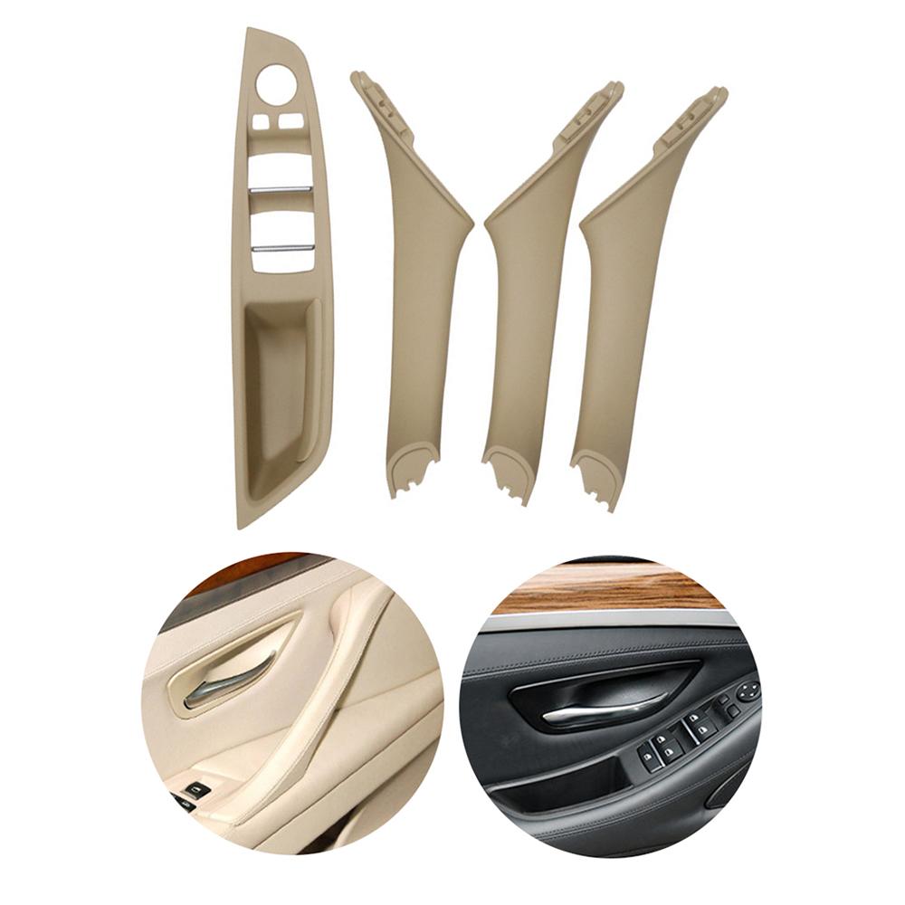 Window Switch Panel Door Handle Kit For BMW 5 Series Inner Door Armrest Panel Handle Outer Trim Cover Beige