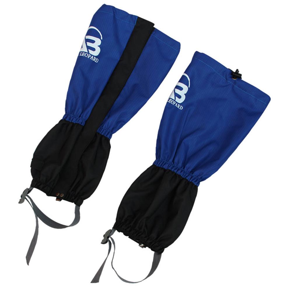 Outdoor Sports Leg Warmers Waterproof Leggings Camping Hunting Hiking Leg Sleeve Snow Legging Gaiters Navy blue