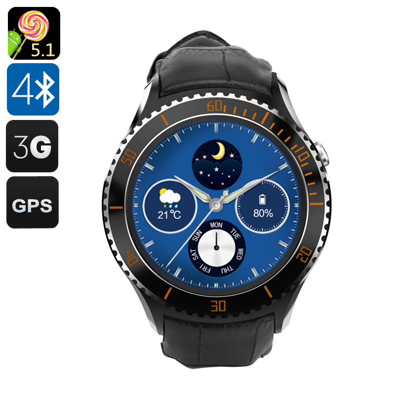 IQI I2 3G Android Smart Watch (Black)