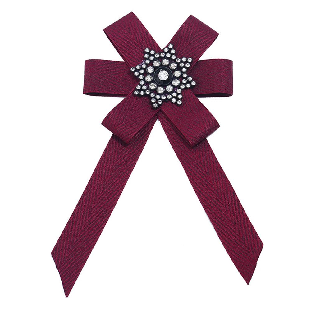 Woman Stylish Exquisite Diamond Cloth Art Bow Corsage Creative Unique Tie Birthday Gift