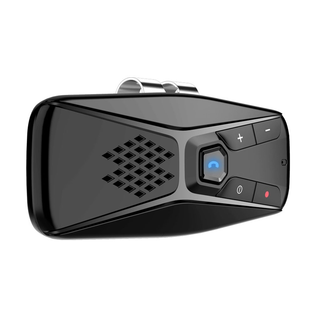 Hands-free Bluetooth 5.0 Car Kit Wireless Speaker Auto Sun Visor MP3 Player Speaker Support Siri Google Assistant black