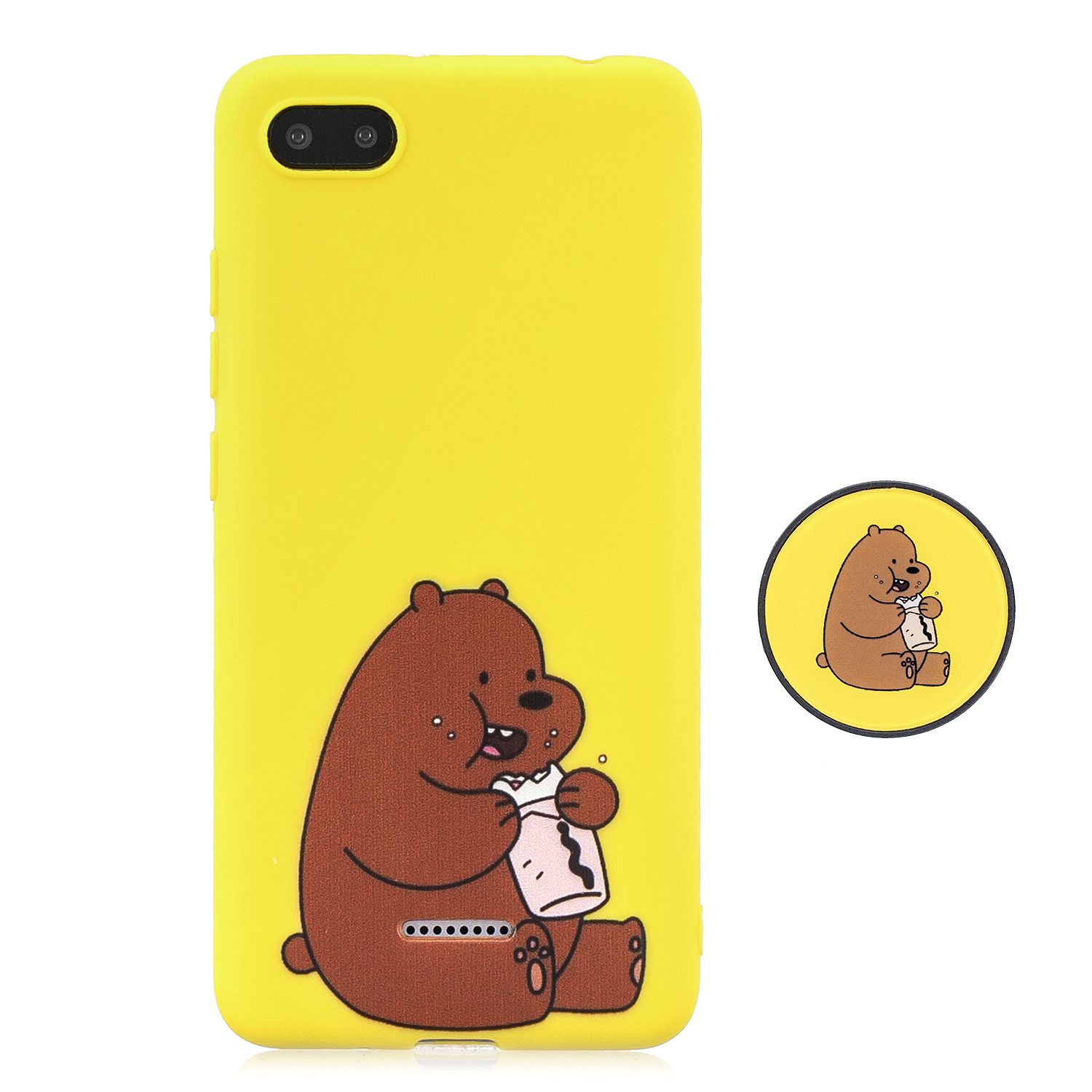 For Redmi 6A Phone Cases TPU Full Cover Cute Cartoon Painted Case Girls Mobile Phone Cover with Matched Pattern Adjustable Bracket 8