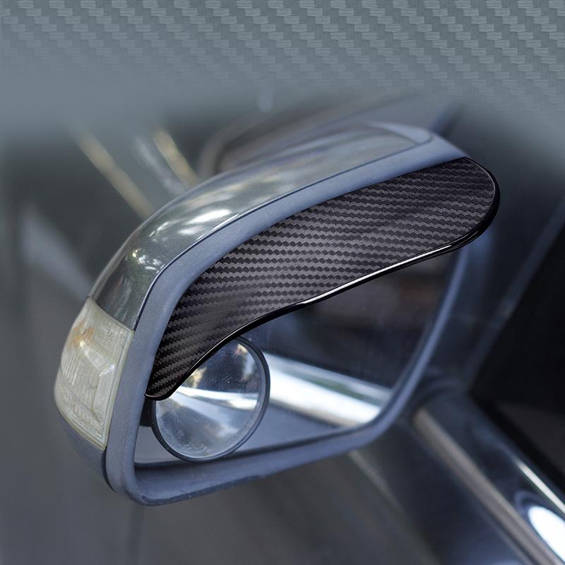 2Pcs Universal Car Rearview Mirror Rain Eyebrow Snow Guard Sun Visor Shadow Protector