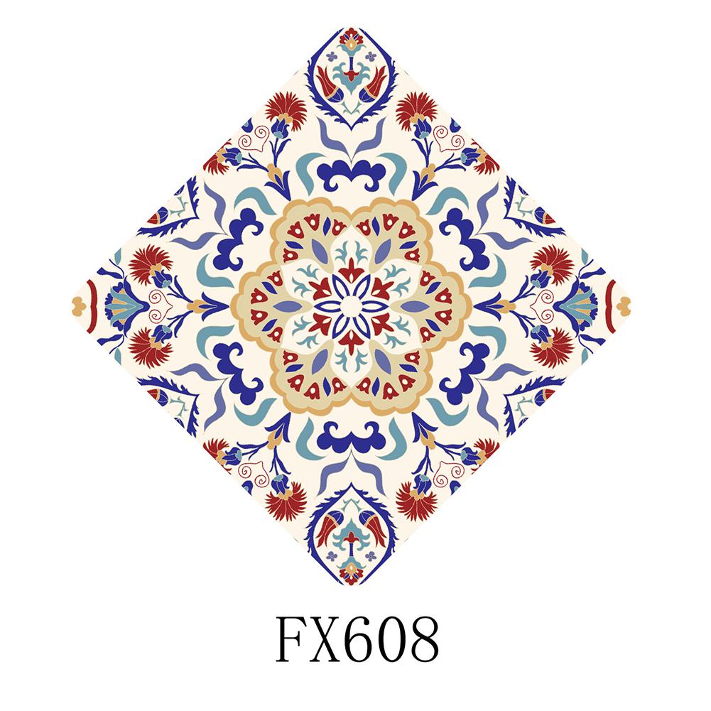10Pcs Waterproof Wear Resistant Diagonal Tile Wall Sticker Decoration FX608