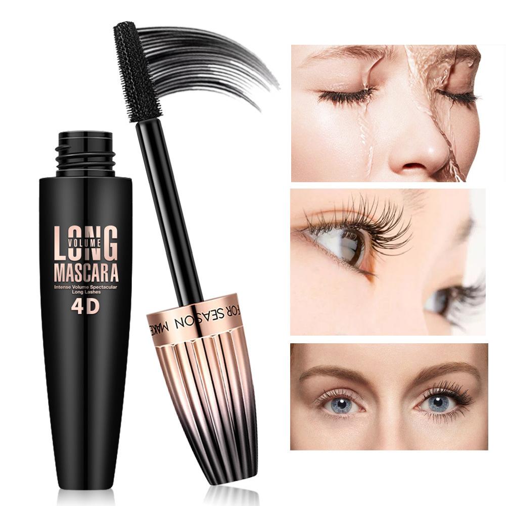 4D Gold Mascara  Waterproof Lash Extensions Makeup Silk Graft Growth Fluid 10ml