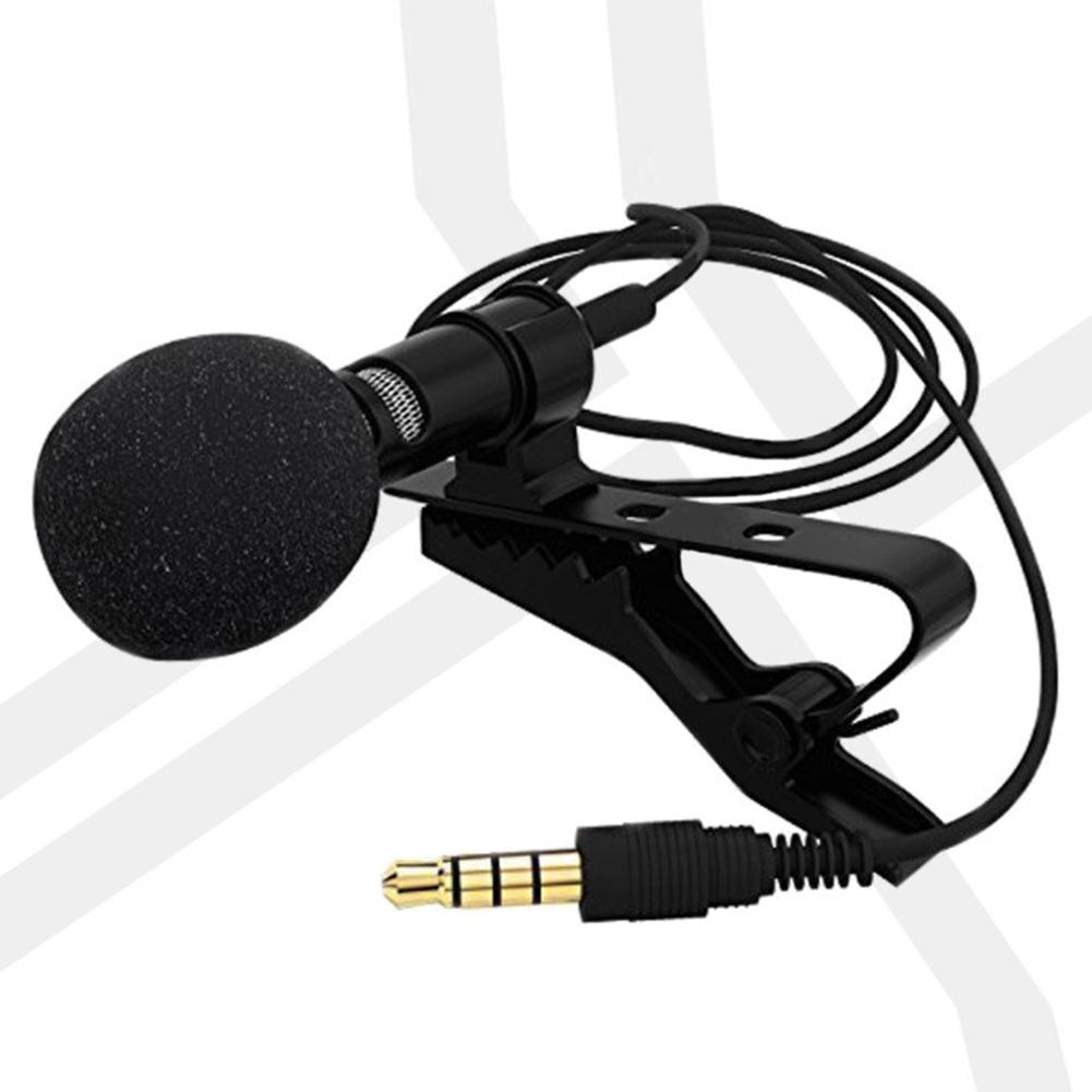 3.5mm Clip On Mini Lapel Lavalier Microphone PE bag packaging