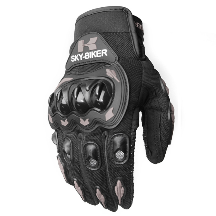 Men Motorcycle Riding Protective  Gloves For  Riders  Bikers gray_L