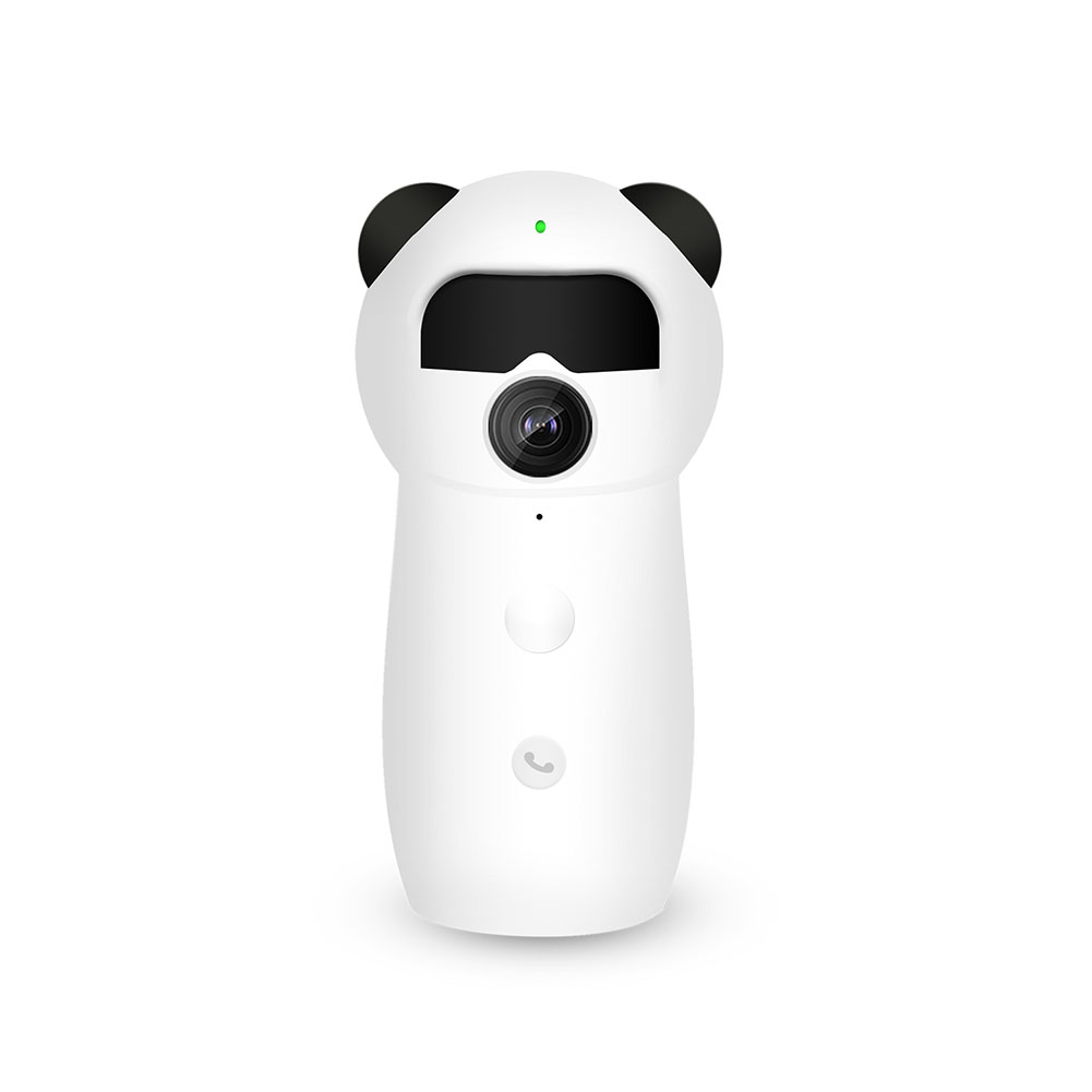 Cartoon Panda Home Security Surveillance Cameras 1080P Wireless Wifi Remote IP Camera Human Body Induction Baby Monitor UK Plug
