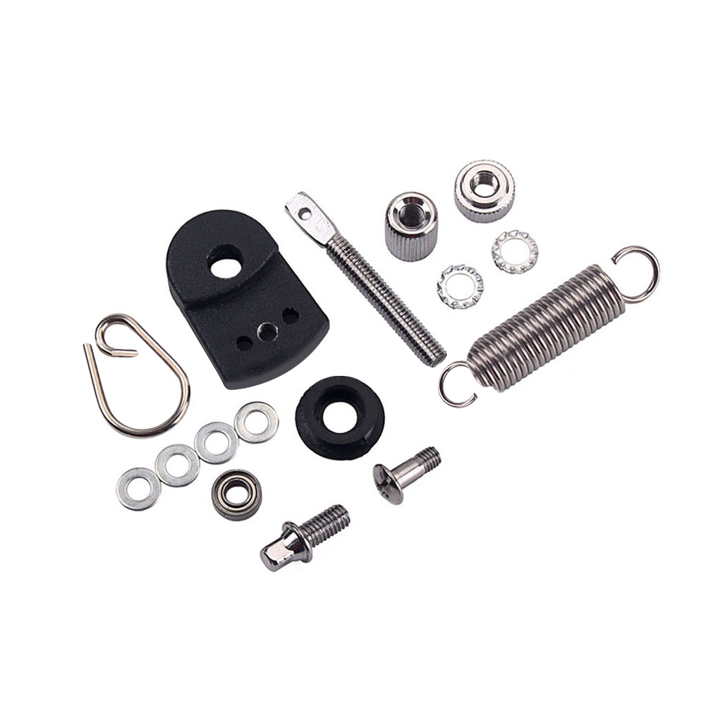 Metal Foot Pedal Kit Springs Cam D-ring Screw Tensioner Percussion Parts for Bass Drum Musical Instrument black
